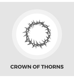 Crown of thorns icon flat vector