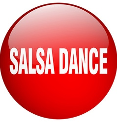 Salsa dance red round gel isolated push button vector