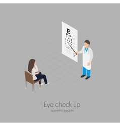 Eye check up vector