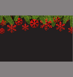 background with red abstract snowflakes vector image vector image