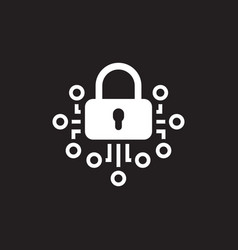 Cryptography icon technology vector