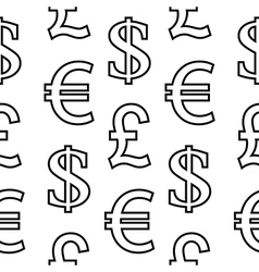 Currency symbols seamless pattern vector image