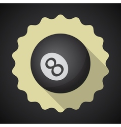 Eight 8 ball flat icon background vector