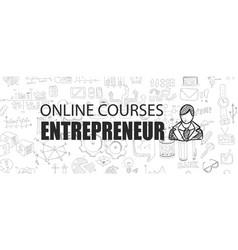 Entrepreneur concept with business doodle design vector