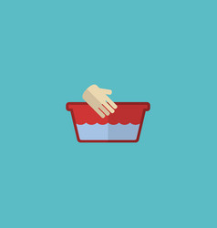 flat icon hand wash element vector image