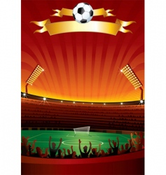 Football stadium vector