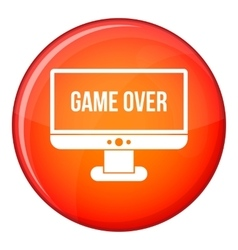 Game over icon flat style vector