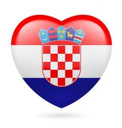 Heart icon of croatia vector