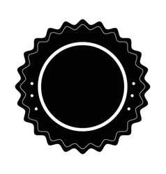 isolated round icon vector image vector image