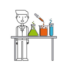 laboratory flat icon design vector image vector image