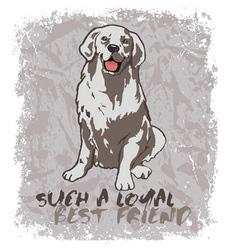 Loyal friend vector