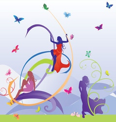 models butterfly vector image