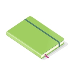 Note book isolated on white background vector