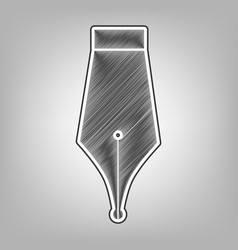 Pen sign pencil sketch vector