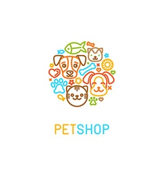 Pet logo design elements vector