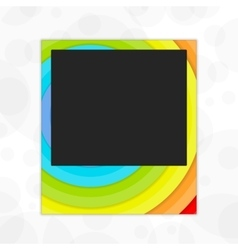 Polaroid photo frame rainbow vector