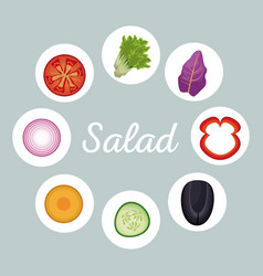 Salad vegetables menu healthy image vector