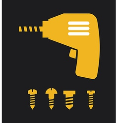 screwdriver design vector image