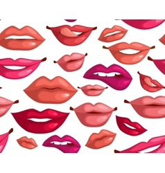 Seamless lips vector image vector image
