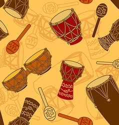 Seamless pattern of percussion vector