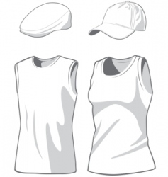 shirts and caps vector image
