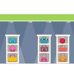 Shopping Center with Bag Design vector image