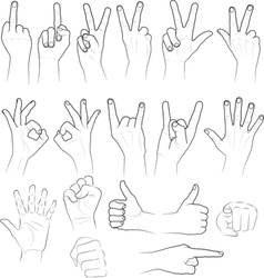 sketch of hands vector image vector image