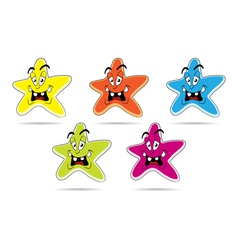 Star cartoon set vector image vector image