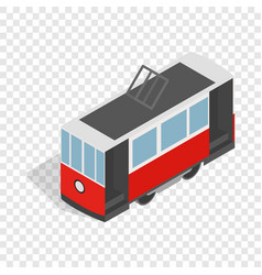 traditional turkish public tram isometric icon vector image