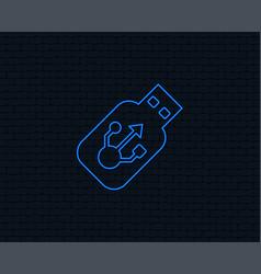 Usb sign icon usb flash drive stick symbol vector