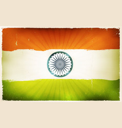 Vintage india flag poster background vector