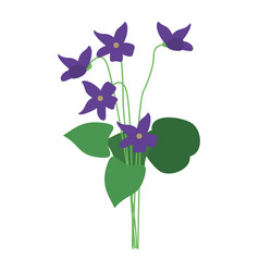 Violet flower nature spring icon vector