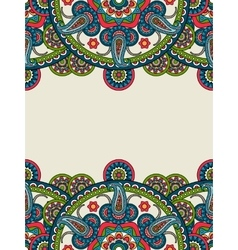 Indian paisley boho mandalas vertical frame vector
