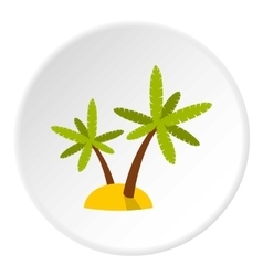 Tropical island icon flat style vector image
