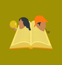 Flat icon on stylish background book classics vector