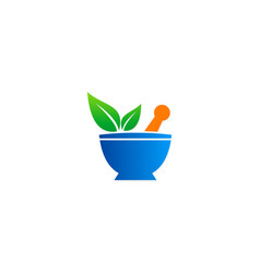 herb green leaf organic medicine logo vector image