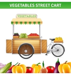 Vegetables street cart vector