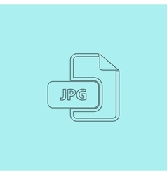 Jpg image file extension icon vector