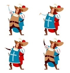 Set of musketeers vector
