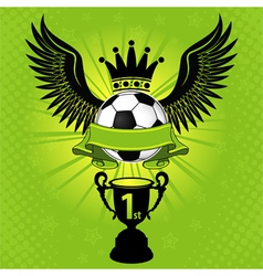 Soccer balls crown vector