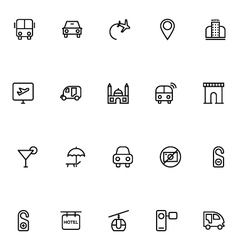 Tourism line icons 1 vector