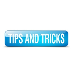Tips and tricks blue square 3d realistic isolated vector