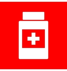 Medical container sign vector