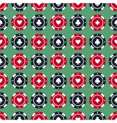 Casino gambling chips seamless pattern vector