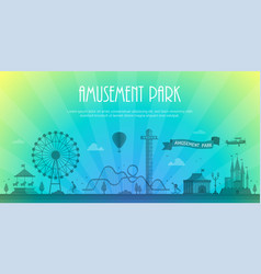 amusement park - modern with vector image vector image