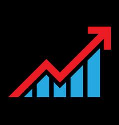 bar graph icon vector image vector image