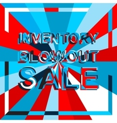 Big ice sale poster with inventory blowout sale vector