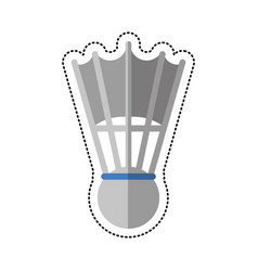 Cartoon badminton shuttlecock sport vector