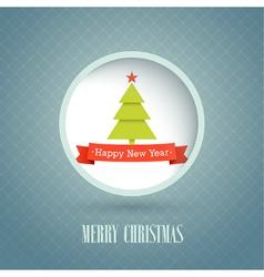 Christmas vintage postcard vector image vector image