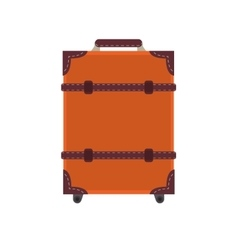 classic suitcase icon vector image